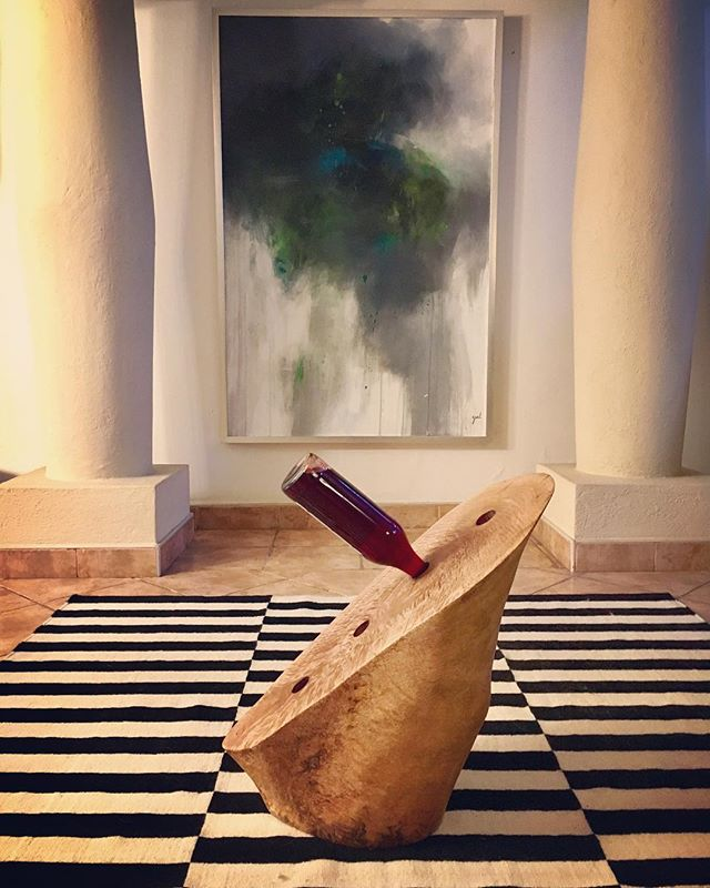 Mango wood wine holder!  #handcarved #wood #mangowood #recycledwood #artesania #forsale #xmasgift #zonacolonial #colonialzone