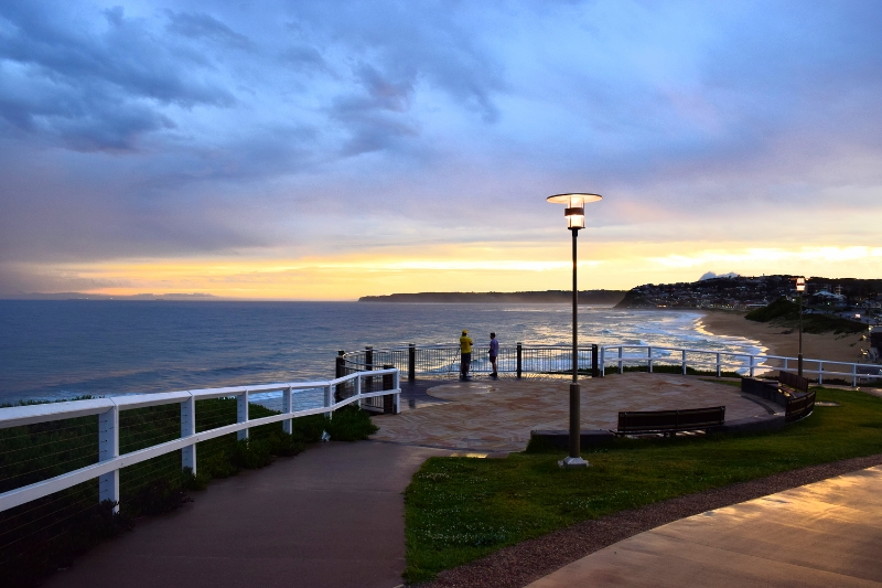 The lookout over Bar Beach and Merewether Beach, Newcastle                                                                         © Cassia Reynolds