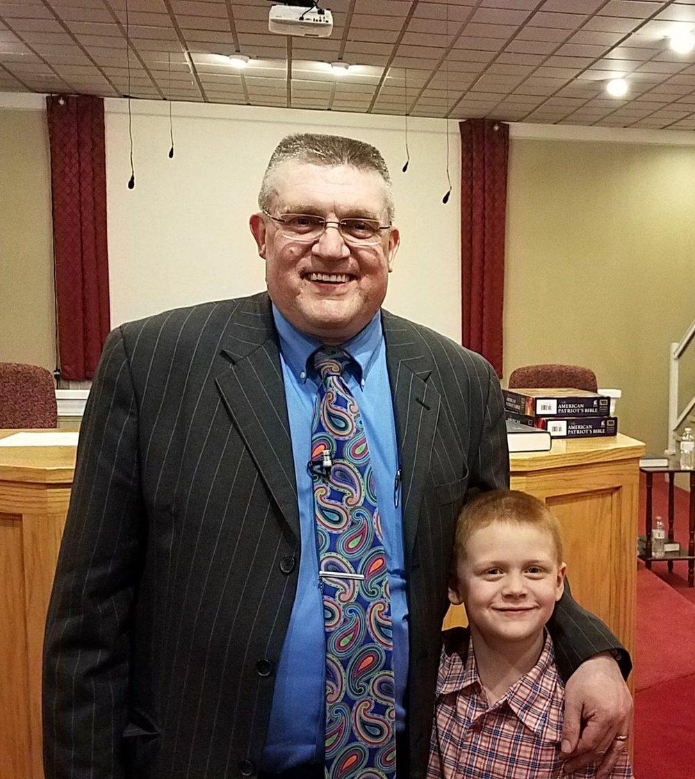 Pastor Brandenburg and Caleb