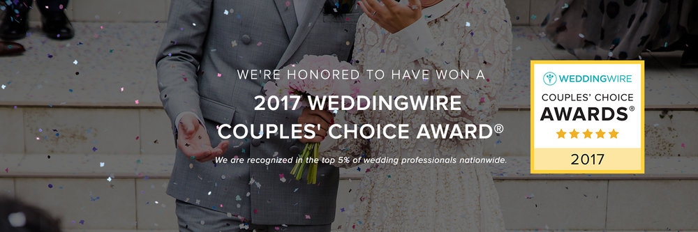 2017 weddingwire couples choice award top 5% nationwide