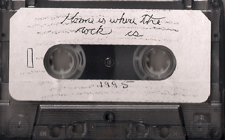 Jim Guthrie's first tape, Home Is Where The Rock Is (1995)