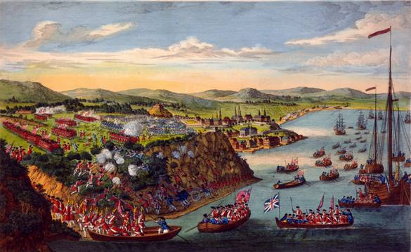 A 1797 engraving of the taking of Quebec. Courtesy of the Library of the Canadian Department of National Defence.