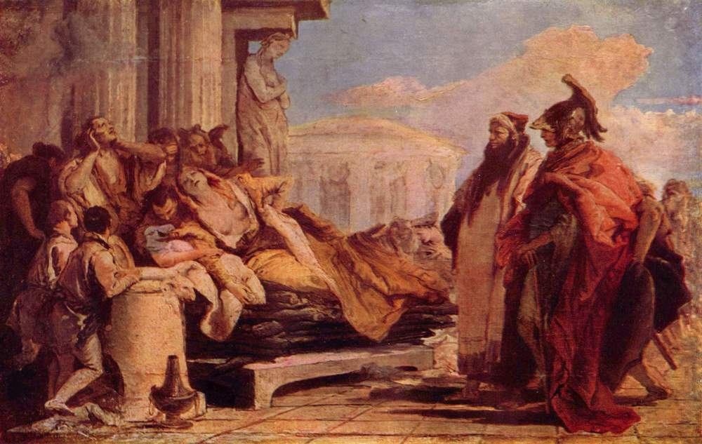 The Death of Dido  by Giovanni Battista Tiepolo. Courtesy of Wikimedia Commons.