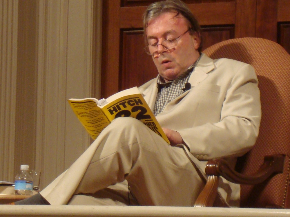 Christopher Hitchens. Courtesy of Wikimedia Commons.