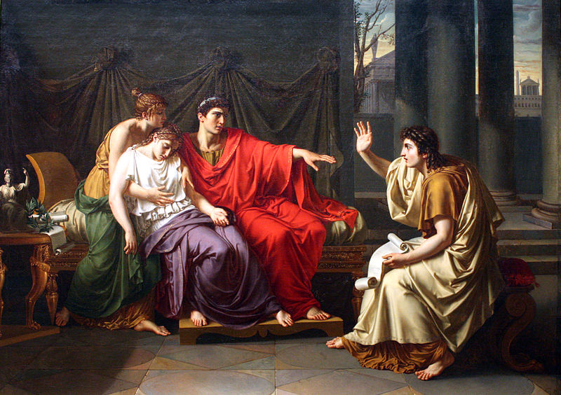 Virgil Reading the Aeneid to Augustus, Octavia, and Livia , Jean-Baptiste Wicar. Courtesy of  Wikimedia Commons .