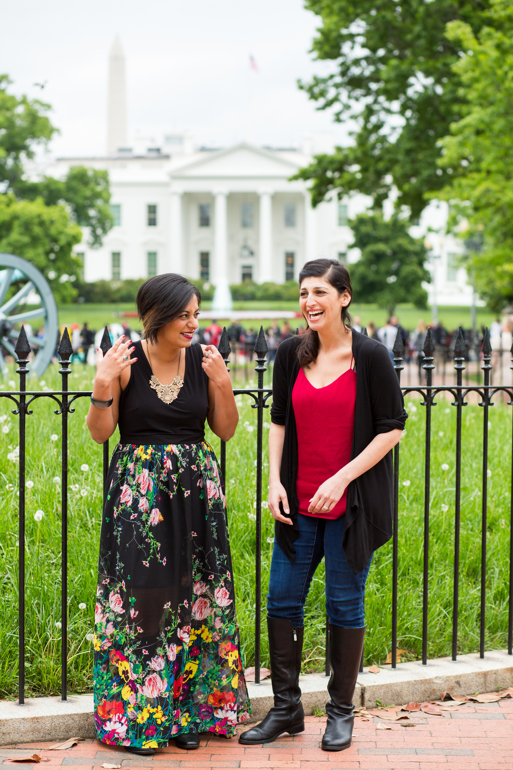 Taz & Zahra at the White House. Photo by Les Talusan.