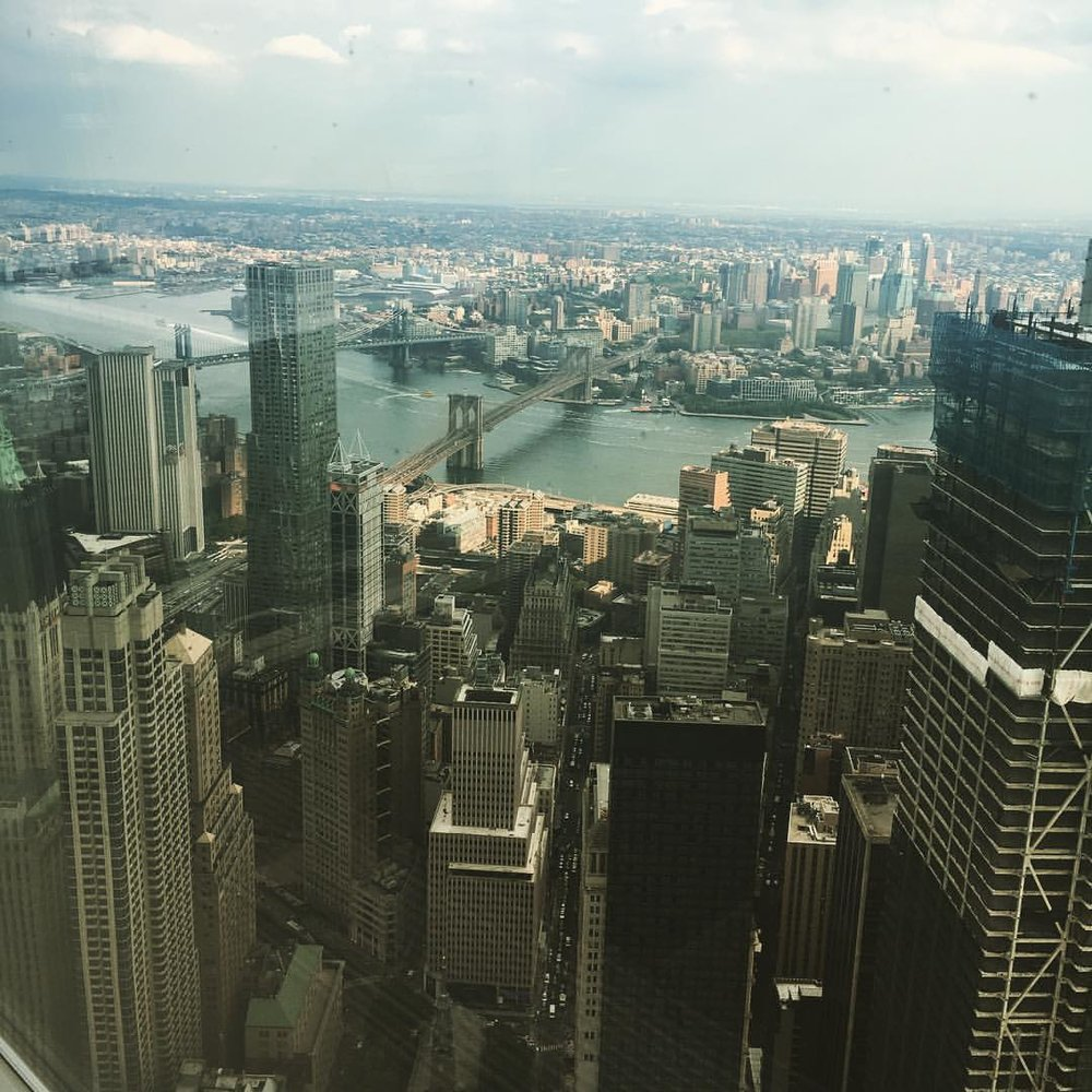 Zahra's view from the 1 World Trade Center.