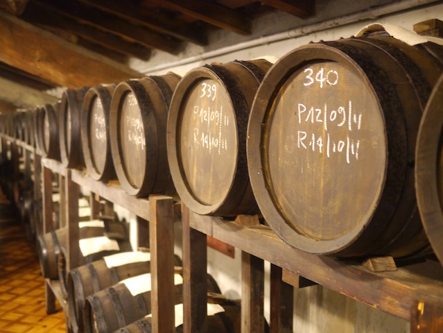 The battery of barrels at Giuseppe Giusti in Modena.