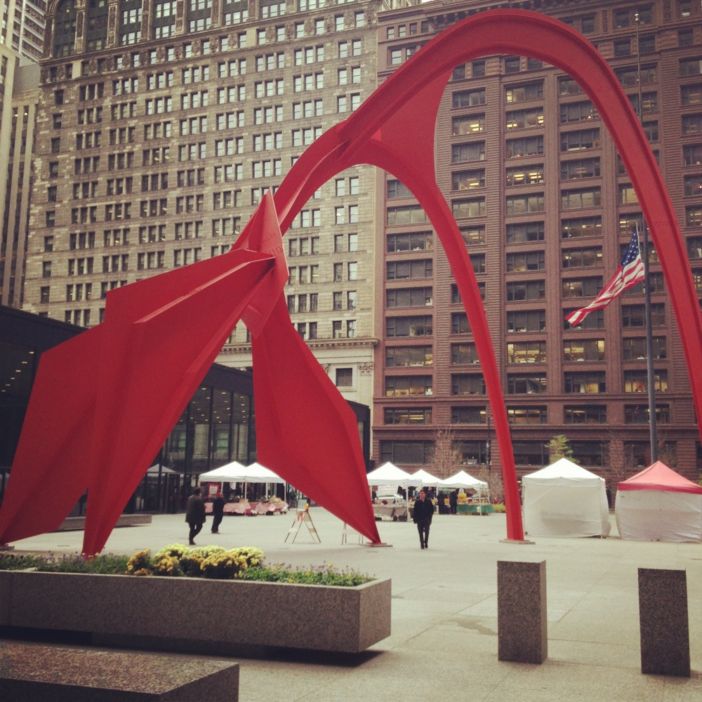 I can't walk underneath this Calder without imagining it coming to life like a giant, slurpy red dog. I wonder would it go fetch me the 22 bus if I promised it a good treat.