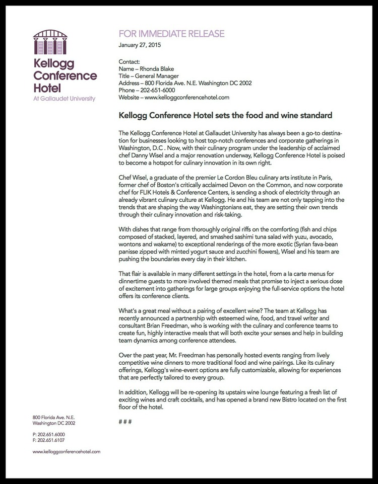 partnership press release template