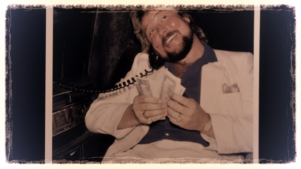 'The Million Dollar Man' in a limo living the high life.