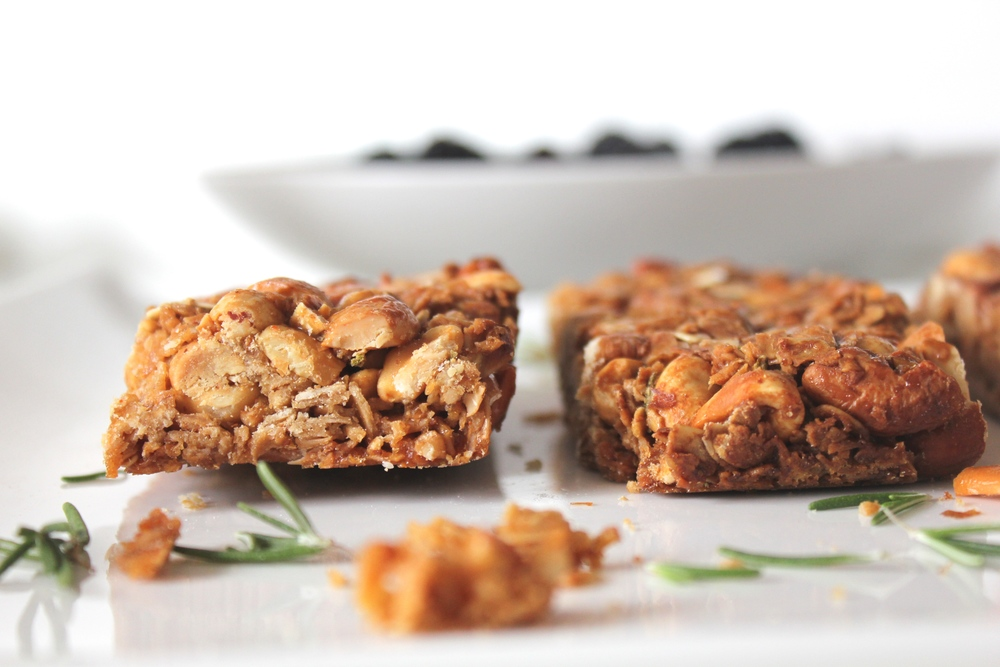 Rosemary cayenne granola bars chase the flavors for Food52 bar nuts