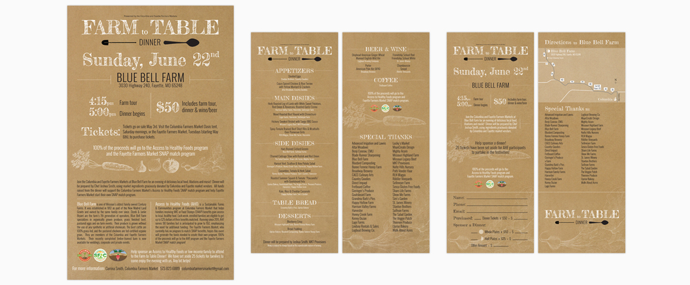 Farm to Table | Poster, Dinner Menu, Event Ticket