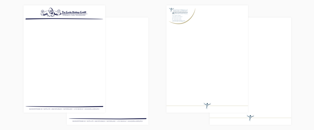 Letterhead | The Gorilla Holdings GmbH, Central Missouri Dermatology