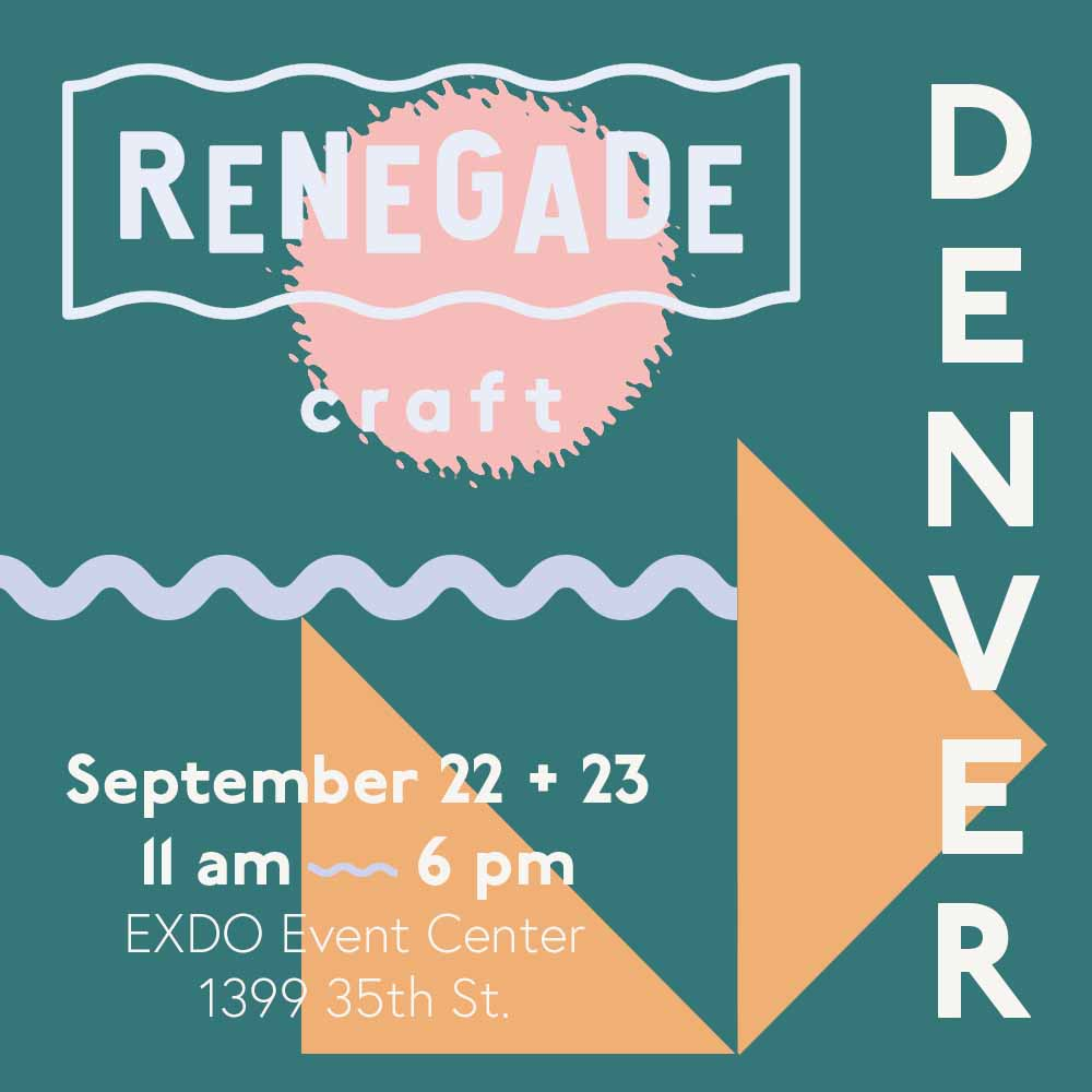Come Check me out for my 3rd year @Renegade Craft Fair! This is one of my favorites of the year and has a great selection of curated artists. So excited to be invited back to this! <3