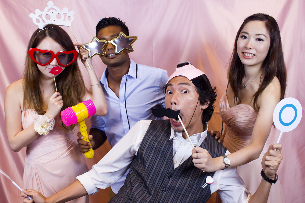 Photo Booth Our widely-acclaimed Photo Booth services in Singapore includes dynamic props, professional studio photography, a designer watermark and unlimited high-speed photo prints! Add a dash of sugar and everything nice to complete your day!