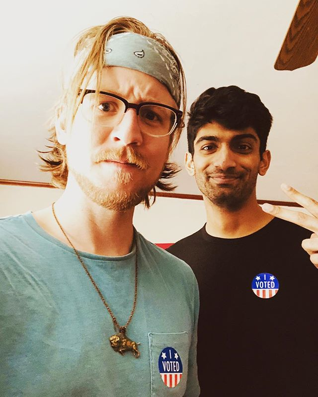 Look at how hot we look in our stickers. Don't you wanna be #hot like us? Go #vote! #election2018