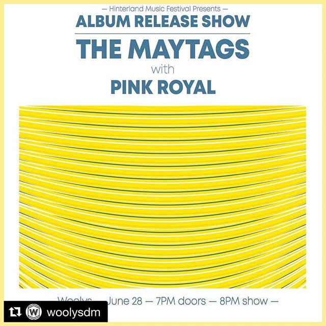 V v excited to be supporting our good friends @themaytags, just up the road from us in Des Moines, as they get ready to release what is sure to be another stellar album. Check them out, show them some love, and we'll see all you beautiful people out there in #DSM in June! Stay tuned for more friends! . . . @woolysdm @hinterlandiowa #desmoines #meriweather #iowanusic #dsmmusic