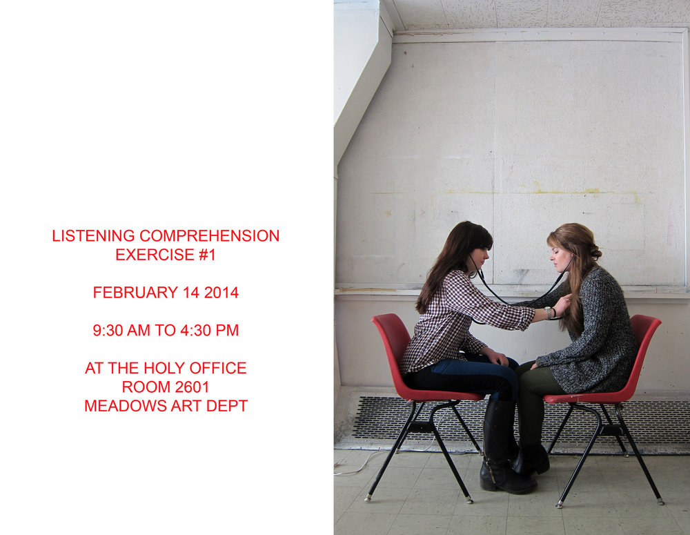 Listening Comprehension Exercise (event poster), 2014. One day event.