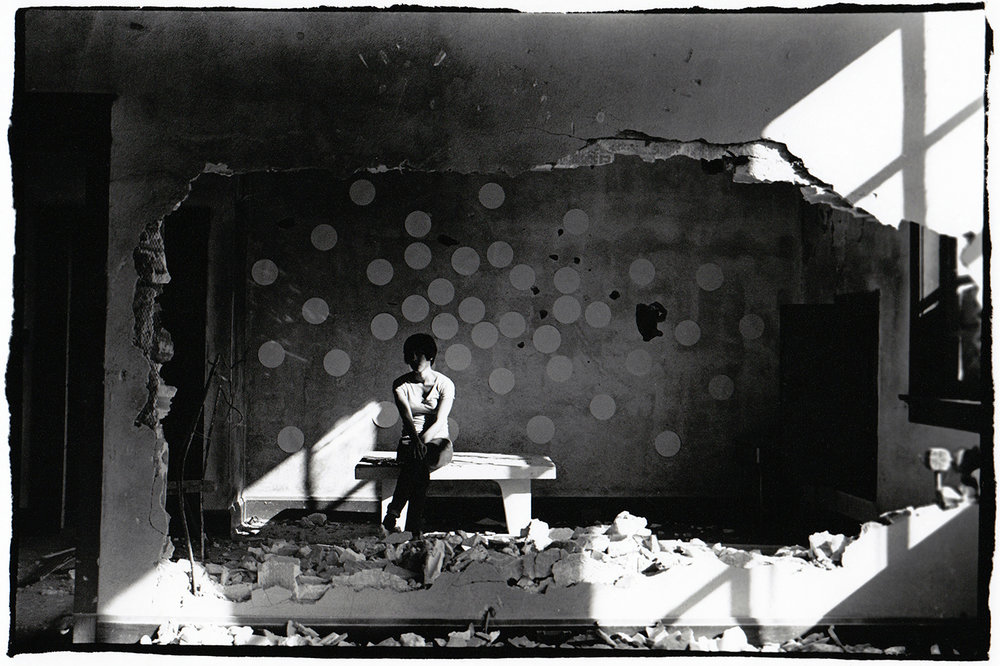 Cutting Out a Space,  2011. Series of 10 silver gelatin prints, 11x14 in.