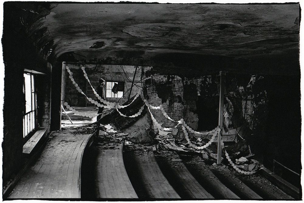 Cutting Out a Space , 2011. Series of 10 silver gelatin prints, 11x14 in.    View full series