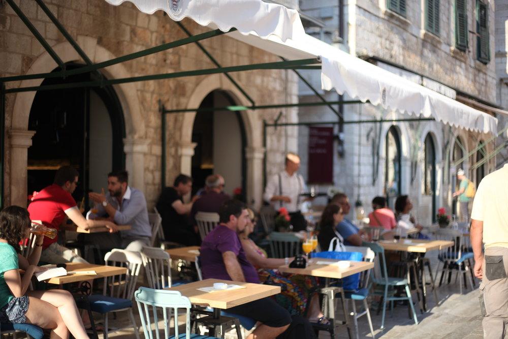 Cafes in Dubrovnik