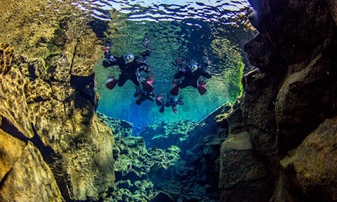 C. Snorkeling at Silfra