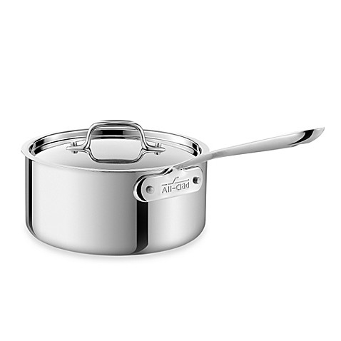 All-Clad Stainless Steel 3-Quart Covered Saucepan - $119.99