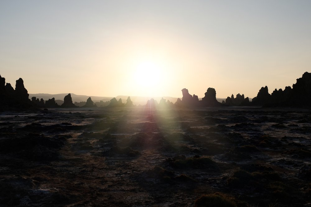 The chimneys of Lac Abbe