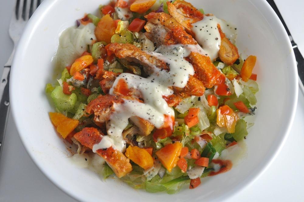 Buffalo Chicken Salad - Low Carb, Ketogenic, Gluten-Free