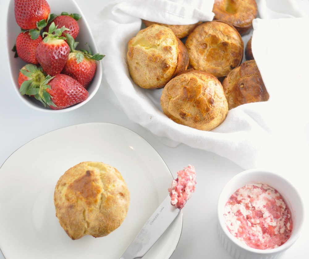 Popovers with Strawberry Butter - Low Carb, Keto — Modern Low Carb