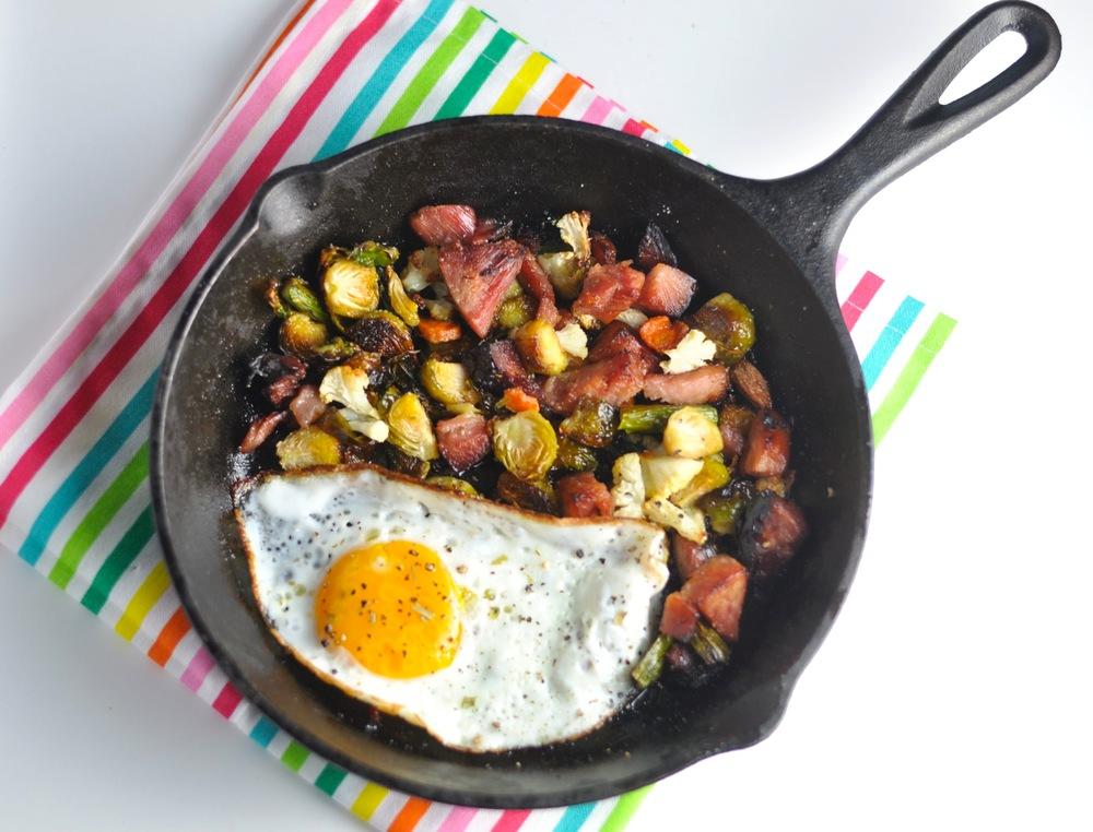 Ham & Veggie Egg Skillet