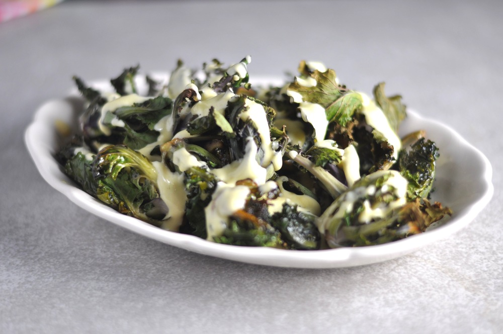 Kale Sprouts wih Hollandaise