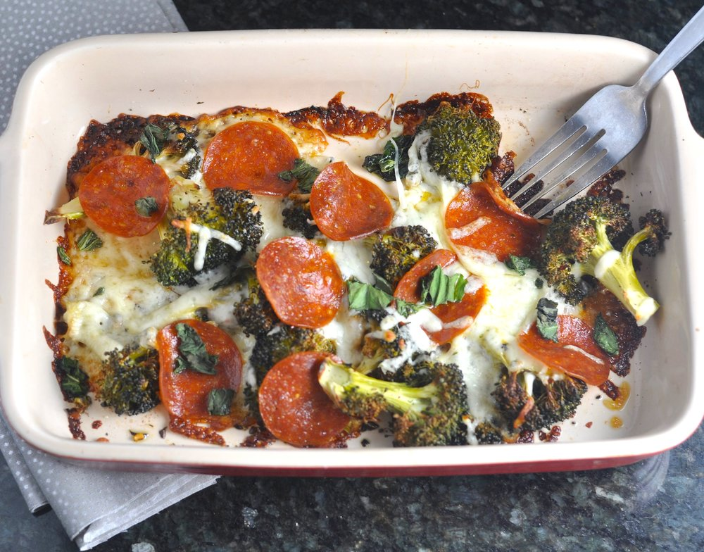 low carb pizza broccoli