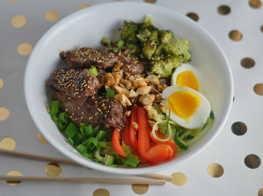 low carb teriyaki beef bowl