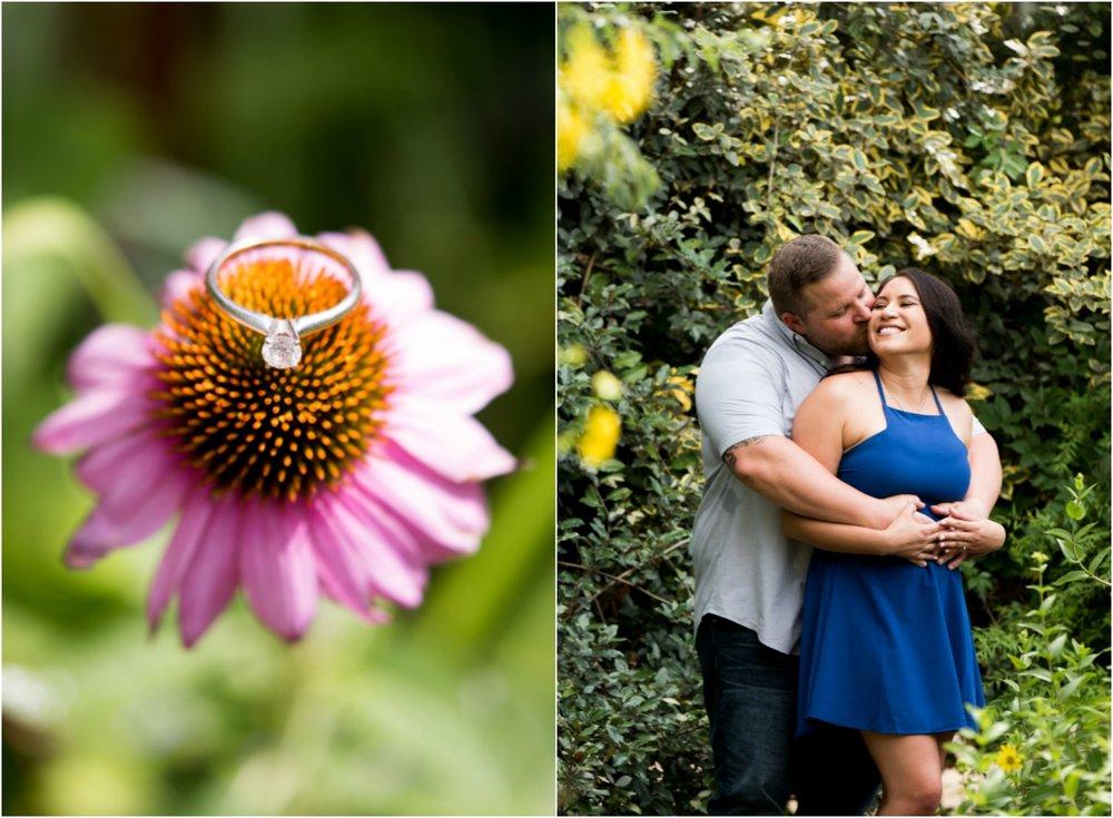 Albuquerque botanical gardens engagement photography