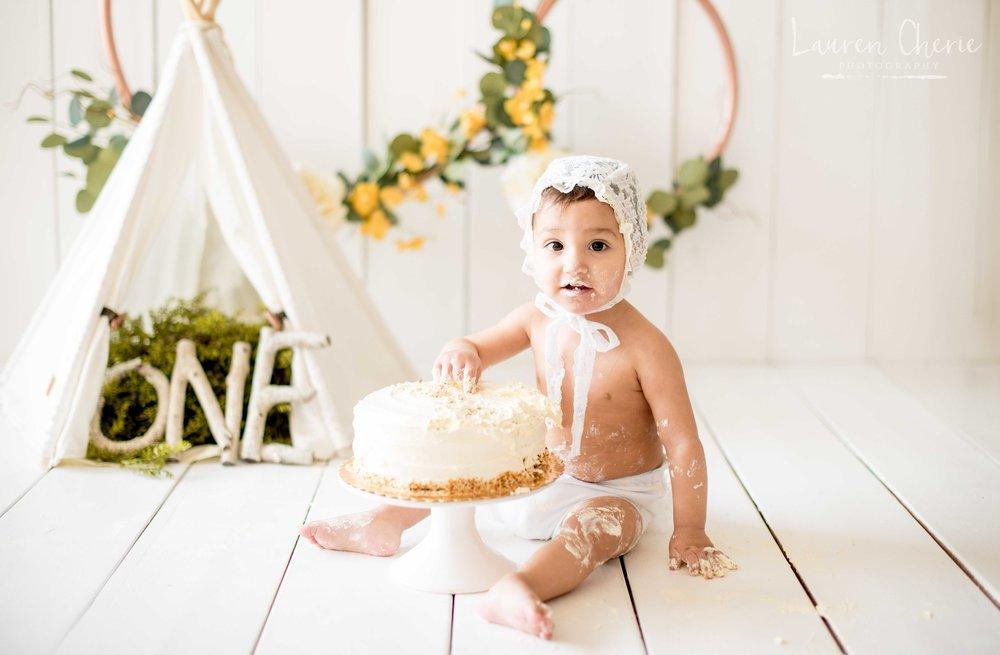 cake smash photographer albuquerque