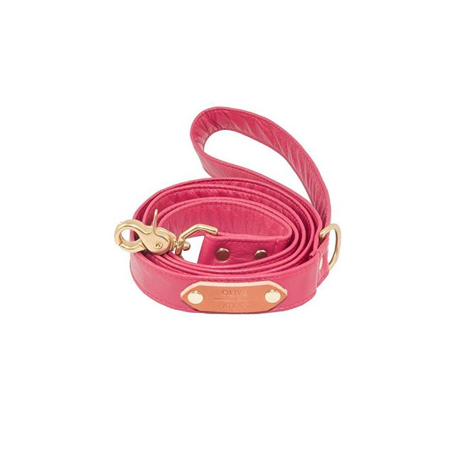 """Auction item #26: SIZE LARGE, """"Fuchsia Pink"""" O+A leash, handmade by us with pink full-grain leather. Bidding starts at $20. Place bid in comments. Ends 11/16 at 6 PM PST. Winner pays shipping. All sales final. Good luck! — OLIVE + ATLAS"""