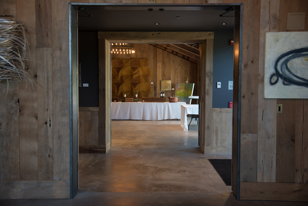 Architectural wedding photography in venue in Napa Valley