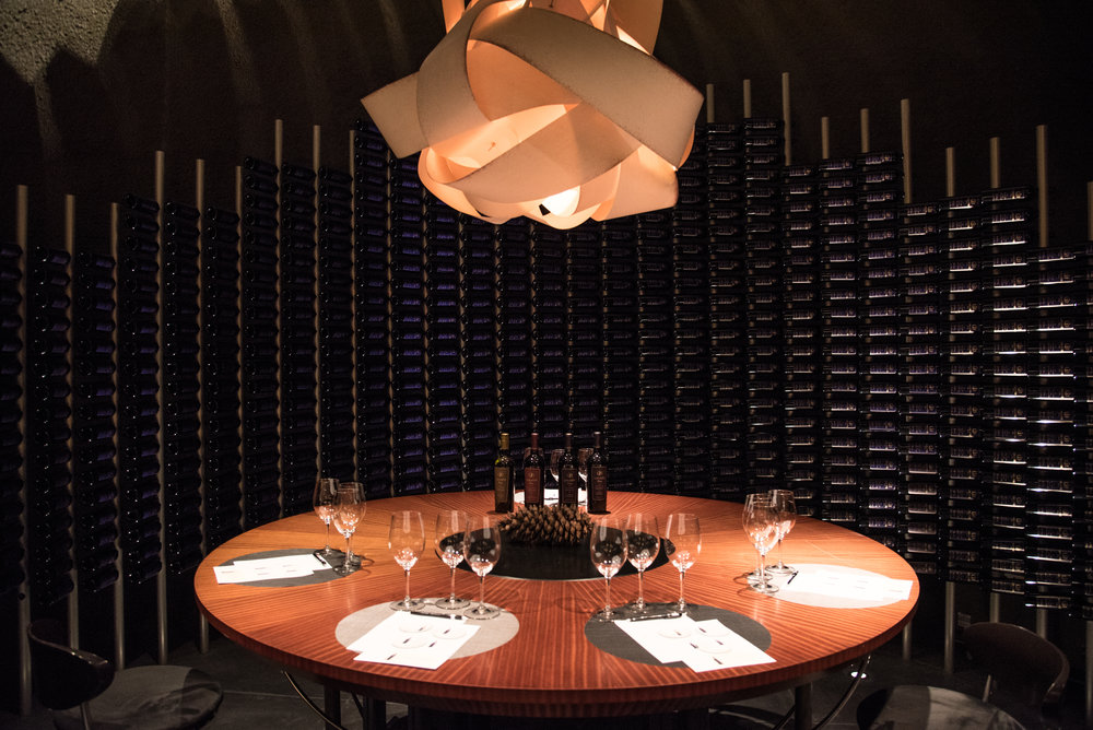 Architectural photography for cellar in winery in Napa Valley