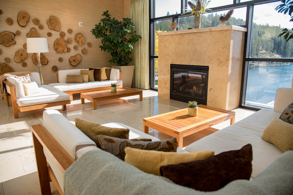 Architectural photography for hotel in Coeur d' Alene Idaho