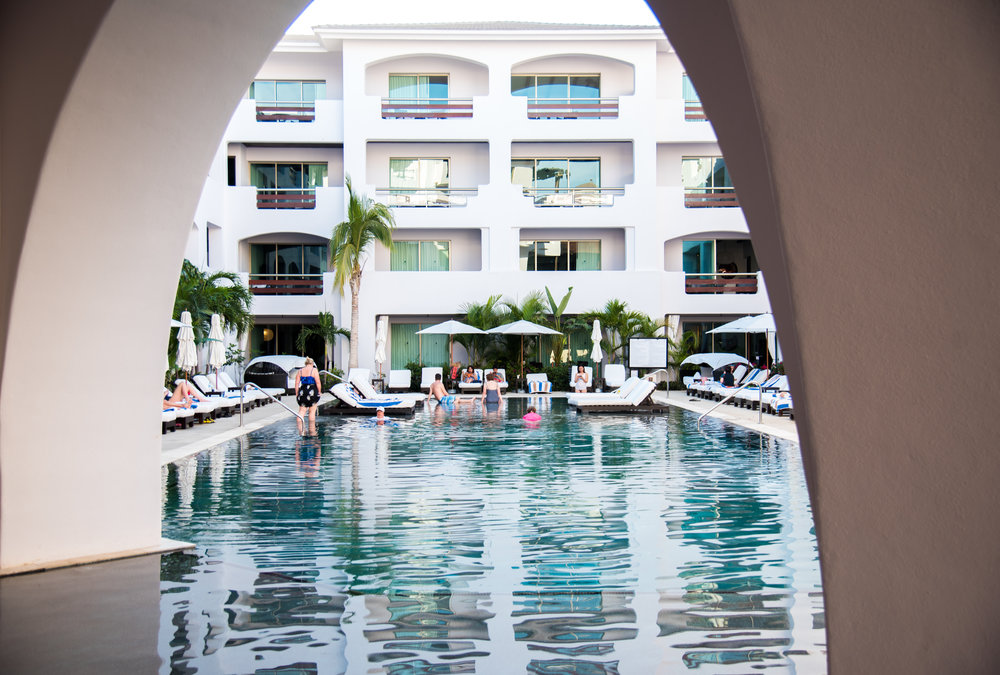 Architectural photography of pool in hotel in Cabo San Lucas