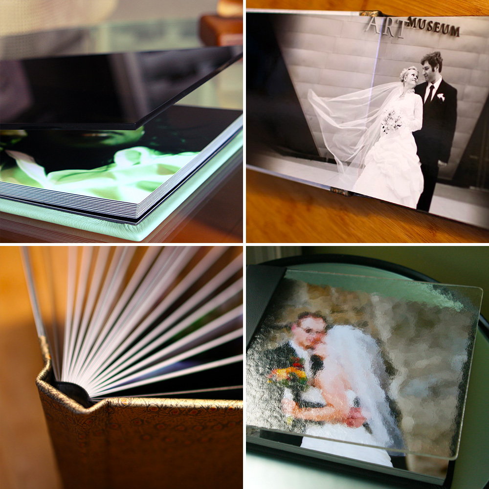Hand-made, custom-designed wedding albums