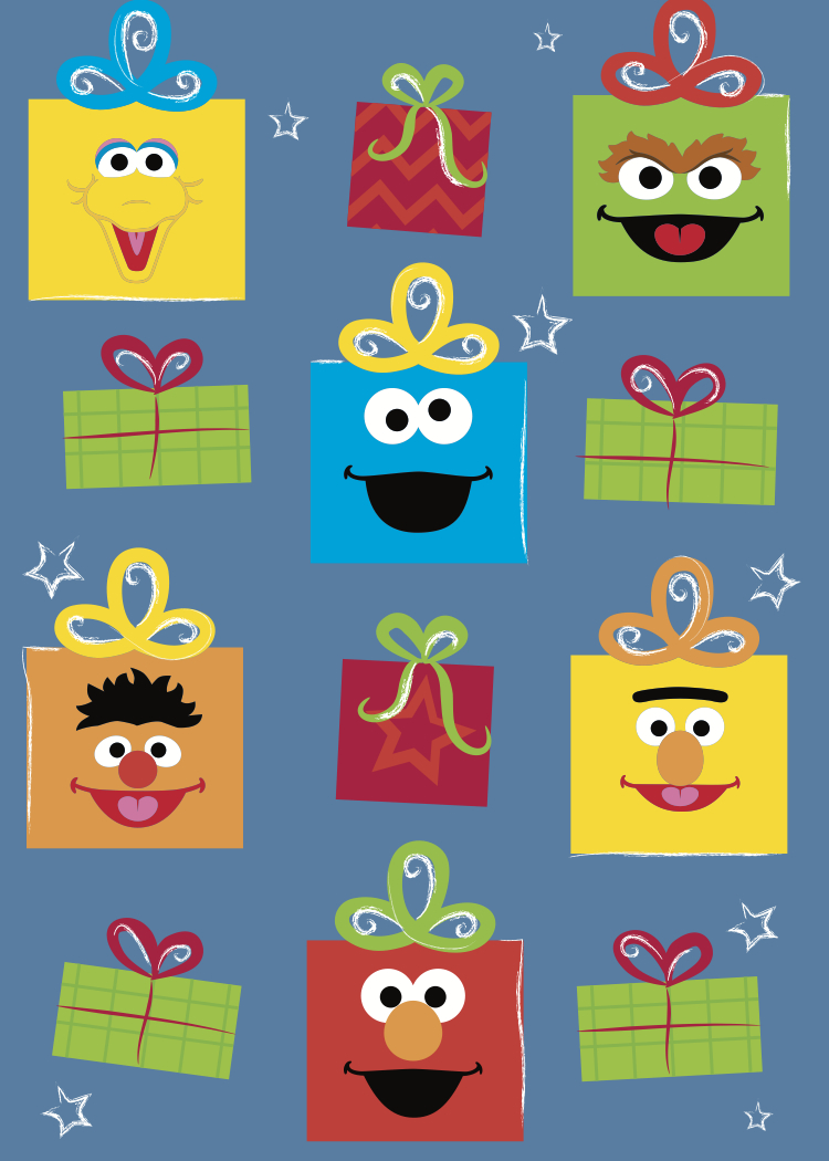elmo wrapping paper