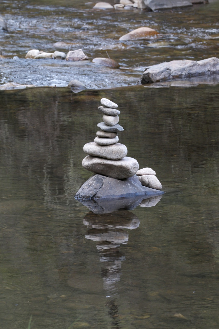 Reflected cairn