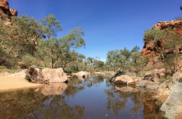Simpsons Gap full of water, West MacDonnell Ranges, NT
