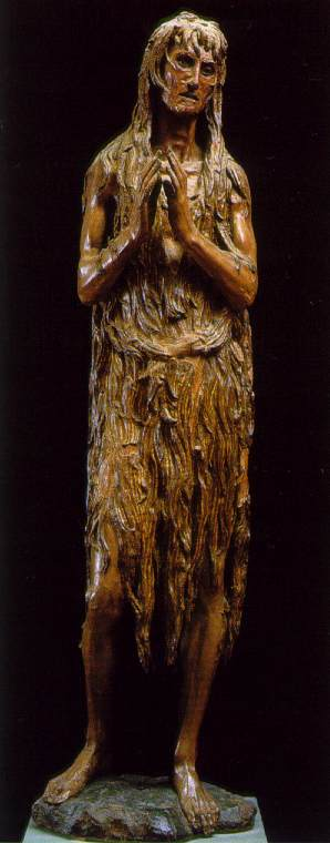 "Donatello, ""The Penitent Magdalene"", c. 1453-55,  ]"
