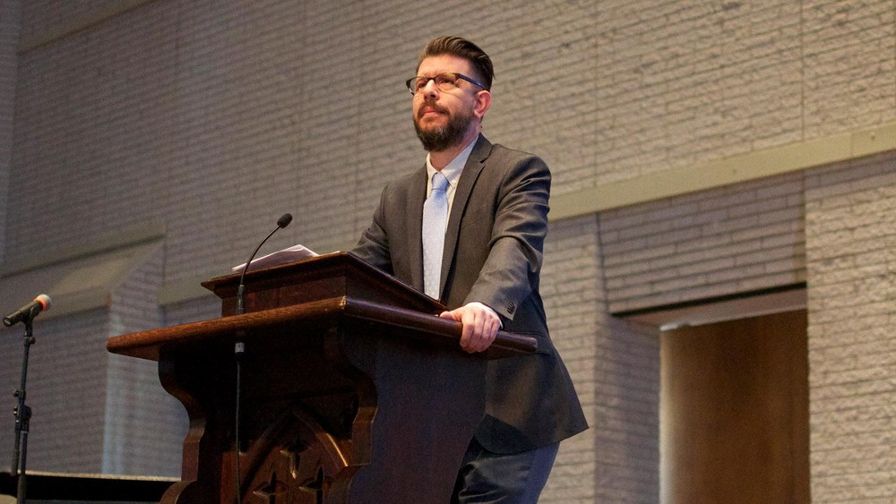 Rev. Grant Lowe, photo by Covenant College Communications Department
