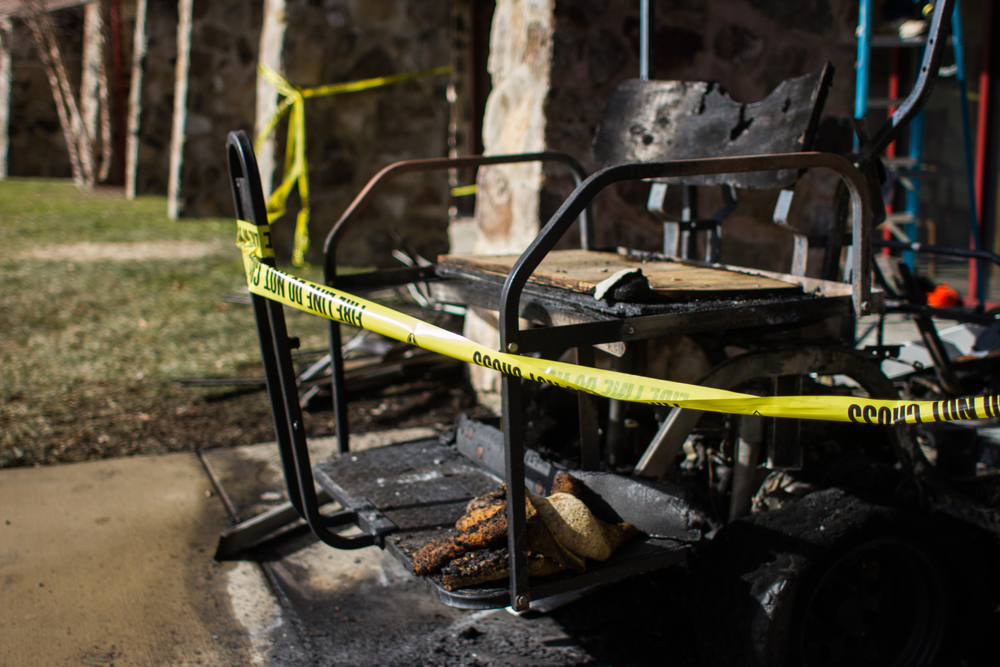 Golf-cart remains, photo by Abby Whisler