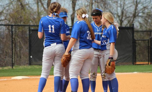 Lady Scots during a game in their 2014 season, photo from athletics.covenant.edu